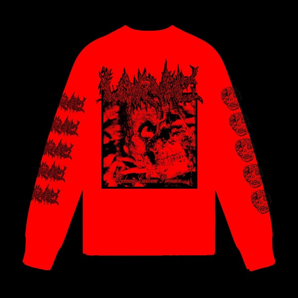 Larvae - Sickening cadaveric perversion Longsleeve Red  (pre order)