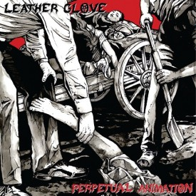 Leather glove - Perpetual Animation LP -Black/white  (pre order)
