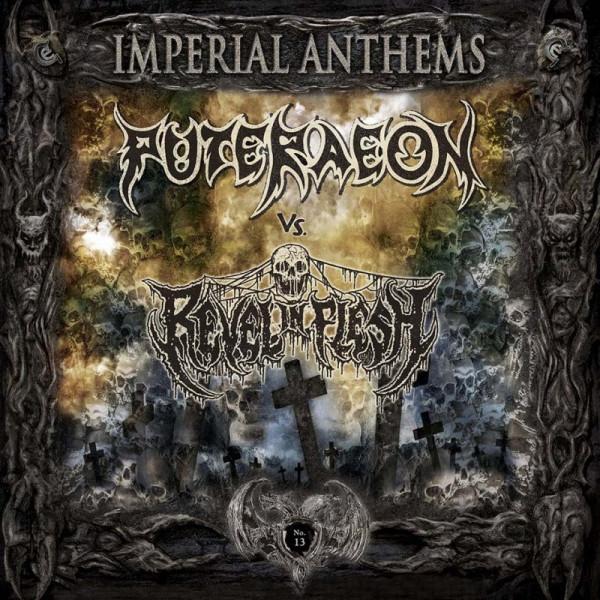 "Puteraeon / Revel in flesh split  7"" (Gold vinyl)"