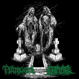 "Grim fate / Putrevore - split  7""  (Green vinyl)"