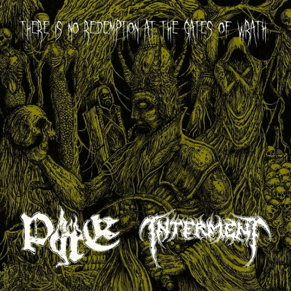 "Pyre / Interment - split 7"" Clear vinyl"