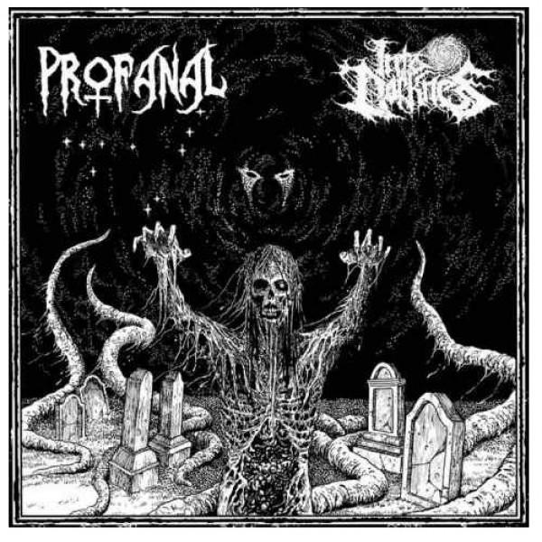 "Into darkness / Profanal split 7"""