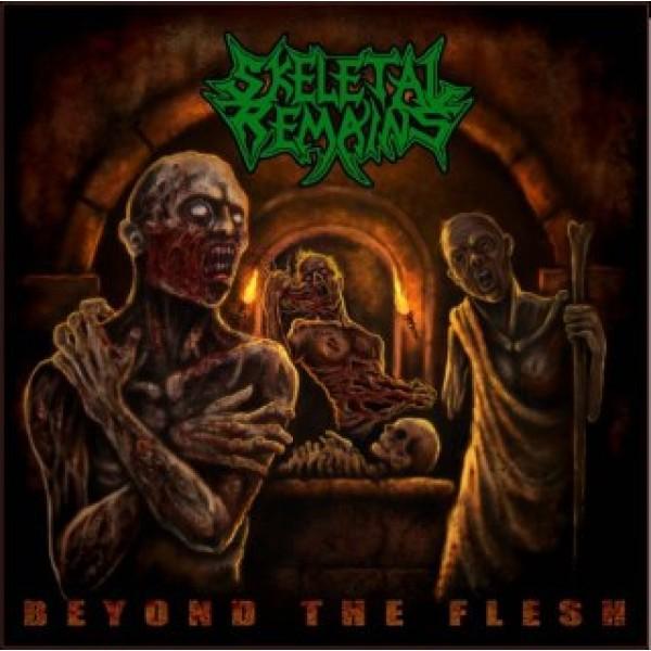 Skeletal remains - beyond the flesh LP  (Petrol green)