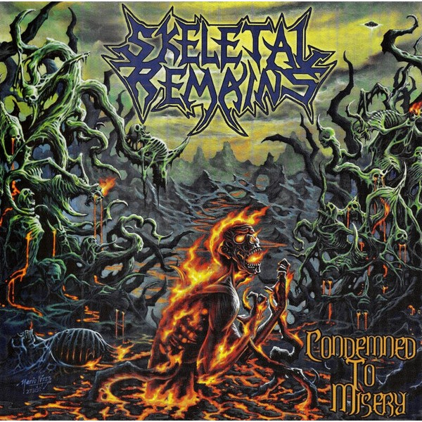Skeletal remains - Condemned to misery LP (brick red)