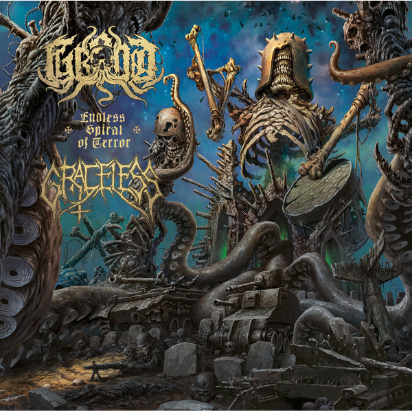 Graceless / Grond - Split LP  (Blue)