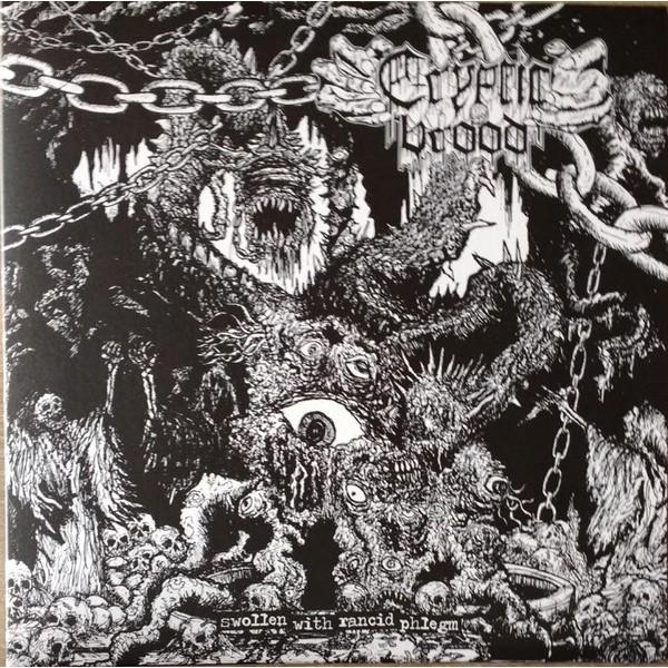 Cryptic brood / Night hag - Split LP